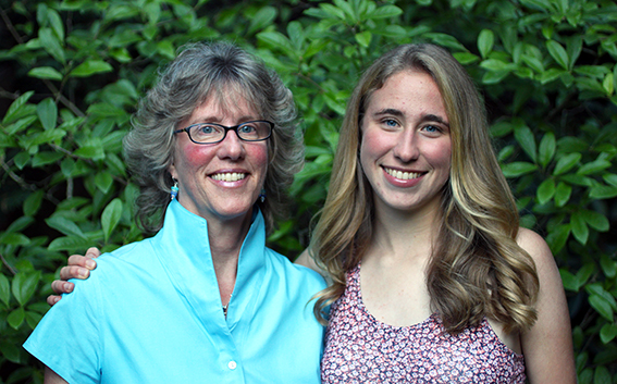 Elaine Werffeli and her daughter